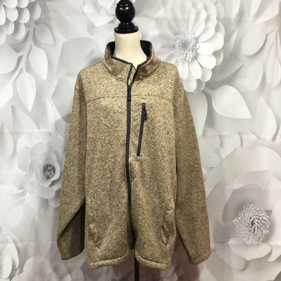 swiss tech Other - Swiss Tech Taupe Full Zip Sweater Jacket 3XL 54/56